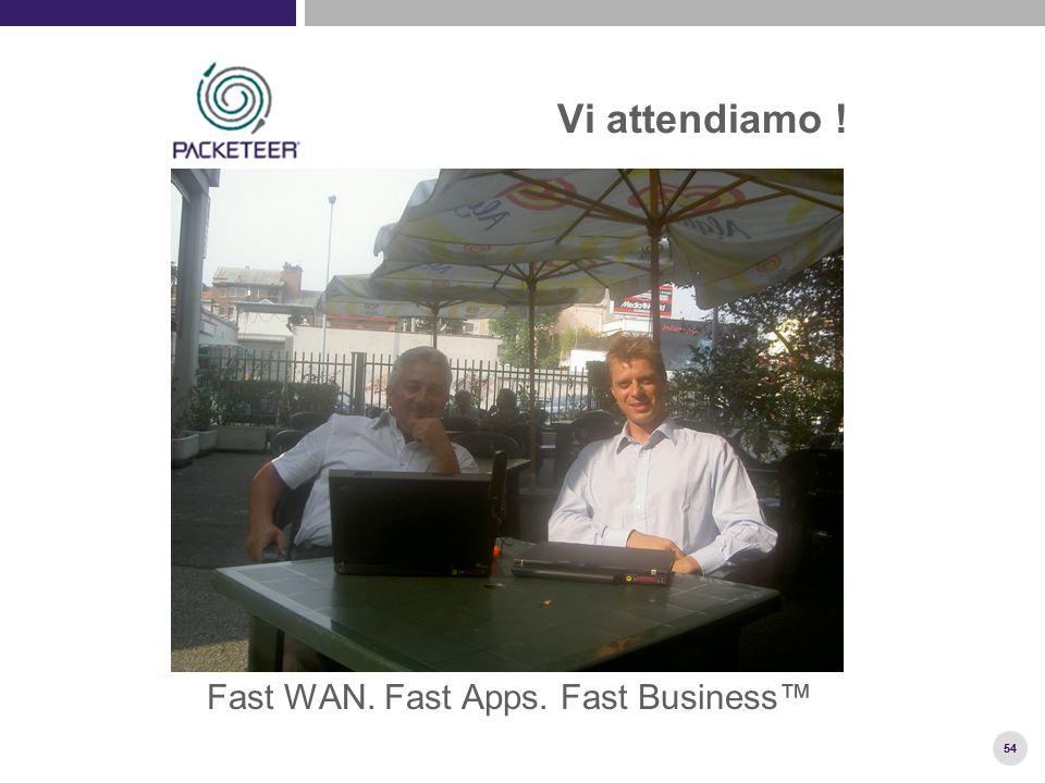 54 Vi attendiamo ! Fast WAN. Fast Apps. Fast Business™