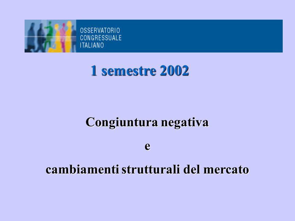 Congiuntura negativa e cambiamenti strutturali del mercato 1 semestre 2002