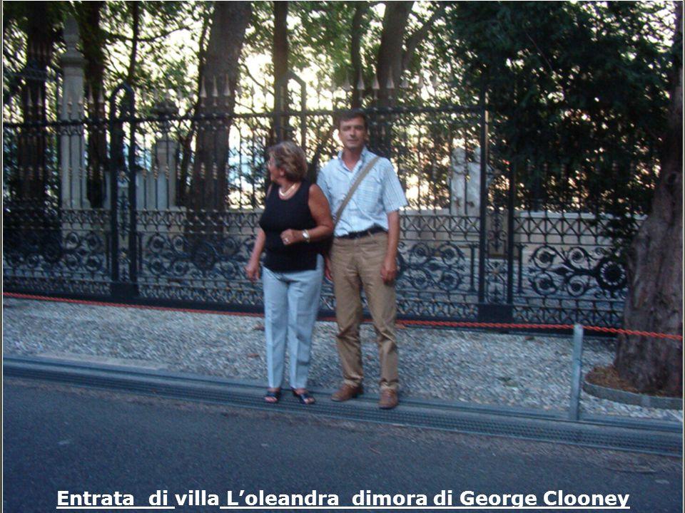 Entrata di villa L'oleandra dimora di George Clooney