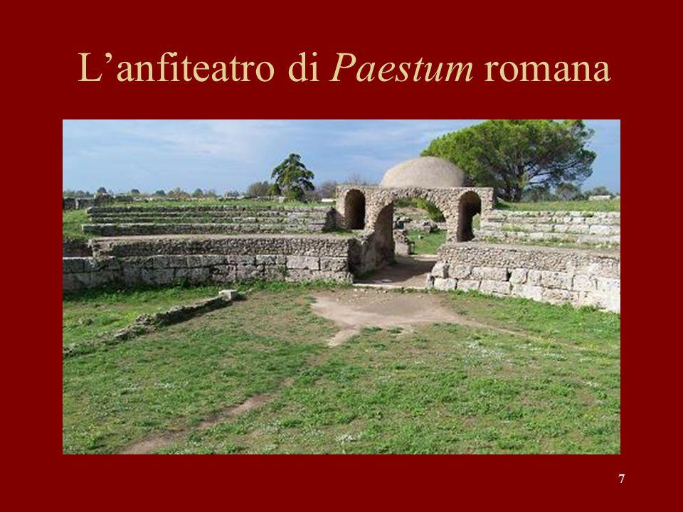 7 L'anfiteatro di Paestum romana