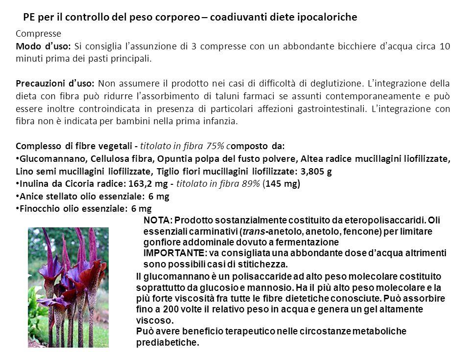 Concentrato fluido Quantitativi per dose giornaliera consigliata - 20 ml Tè verde (Camellia sinensis) foglie estratto liofilizzato : 84 mg - titolato in epigallocatechingallato 12% (10 mg) e in caffeina 6% (5 mg) Fucus (Fucus vesiculous) tallo estratto liofilizzato: 50 mg - titolato in iodio totale 0,1% (50 mcg) (33% RDA) Cacao (Theobroma cacao) semi estratto secco: 417 mg Orthosiphon (Orthosiphon stamineus) foglie estratto liofilizzato: 150 mg Vitamina E acetato pari a vitamina E: 20 mg PE per il controllo del peso corporeo – coadiuvanti diete ipocaloriche Note: -iodio: attenzione a terapie tiroidee (sia in casi di iper- e ipo-funzionalità; potenziamento attività farmaci, es.