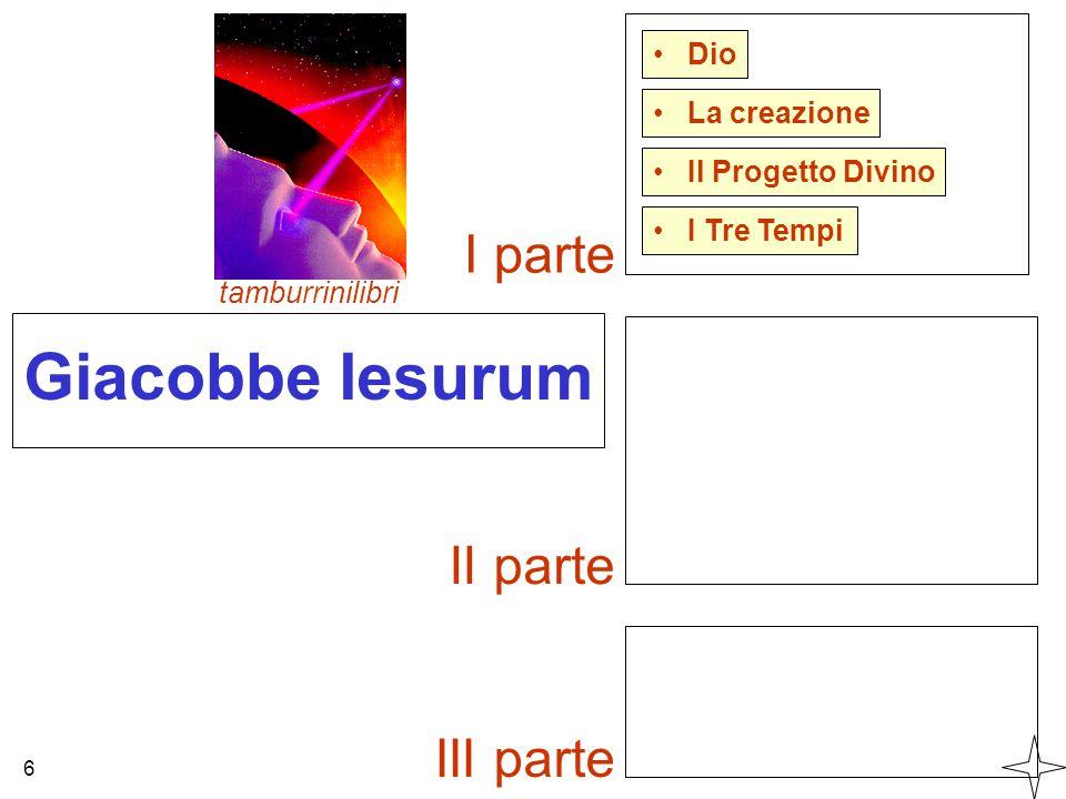 Giacobbe Iesurum Dio Il Progetto Divino La creazione tamburrinilibri 6 I Tre Tempi I parte II parte III parte