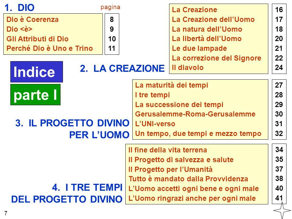 Dio è Coerenza Dio Gli Attributi di Dio Perché Dio è Uno e Trino 1. DIO 8 9 10 11 2. LA CREAZIONE La Creazione La Creazione dell'Uomo La natura dell'U