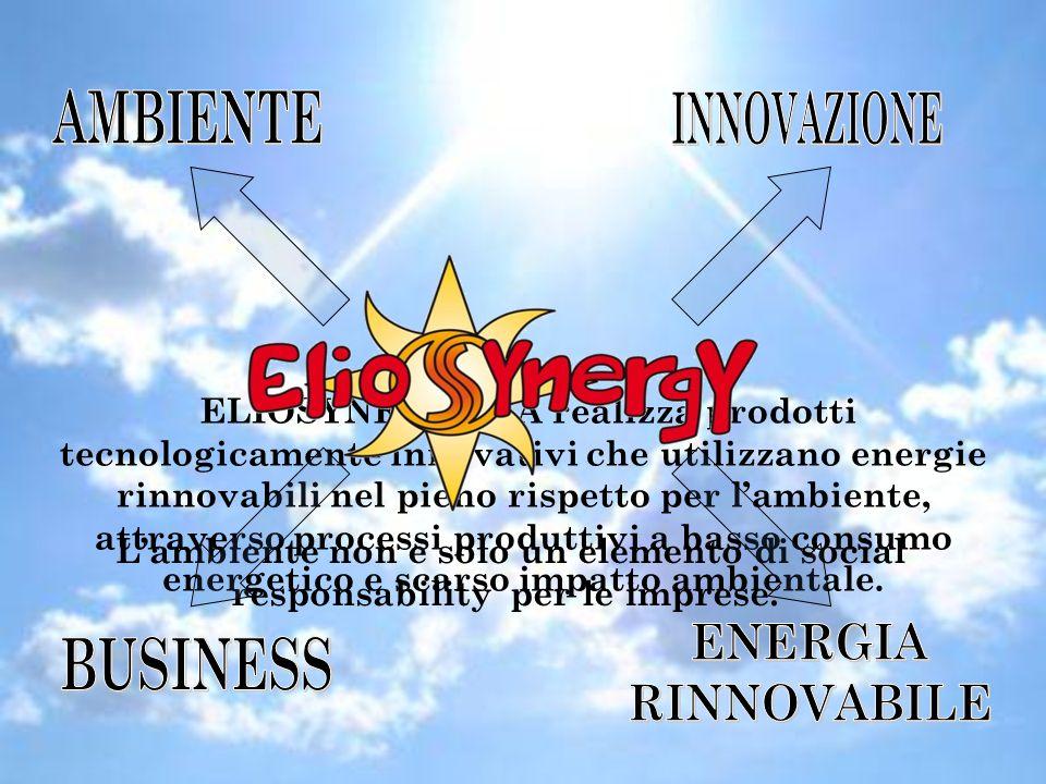 Mission ELIOSYNERGY è un'azienda che propone soluzioni ecocompatibili utilizzando energie alternative.