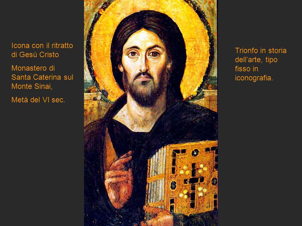 Icona con il ritratto di Gesù Cristo Monastero di Santa Caterina sul Monte Sinai, Metà del VI sec. Trionfo in storia dell'arte, tipo fisso in iconogra