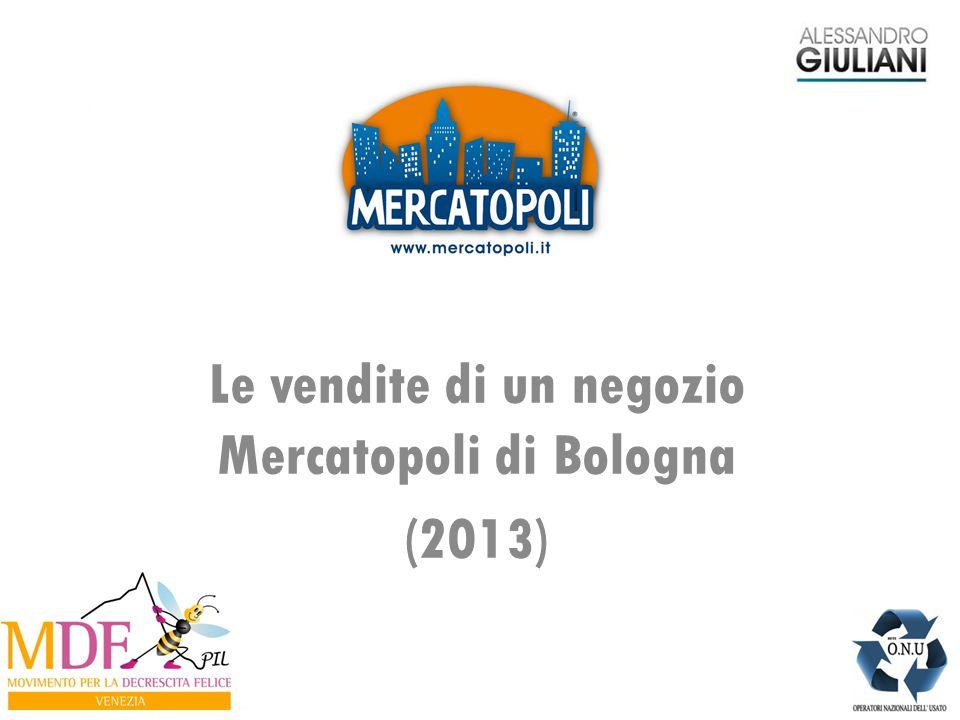 Le vendite di un negozio Mercatopoli di Bologna (2013)
