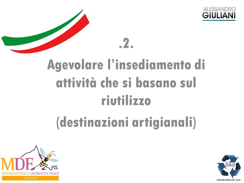 .2. Agevolare l'insediamento di attività che si basano sul riutilizzo (destinazioni artigianali)