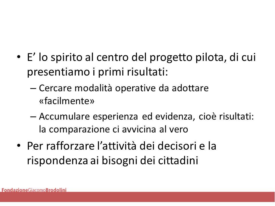 Risultati-Calabria Tutti I risultati, siano positivi o nulli, vanno presi con cautela.