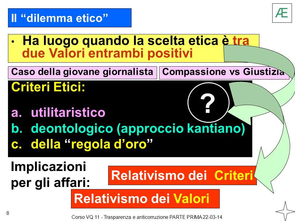 Æ 39 Corso VQ 11 - Trasparenza e anticorruzione PARTE PRIMA 22-03-14