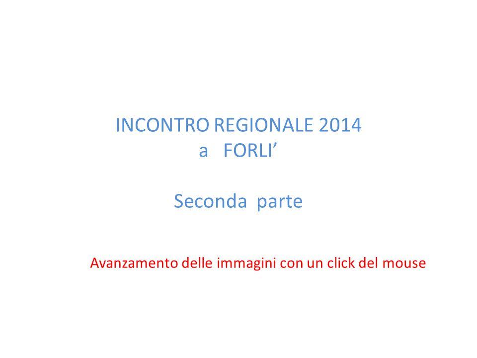 INCONTRO REGIONALE 2014 a FORLI' Seconda parte Avanzamento delle immagini con un click del mouse