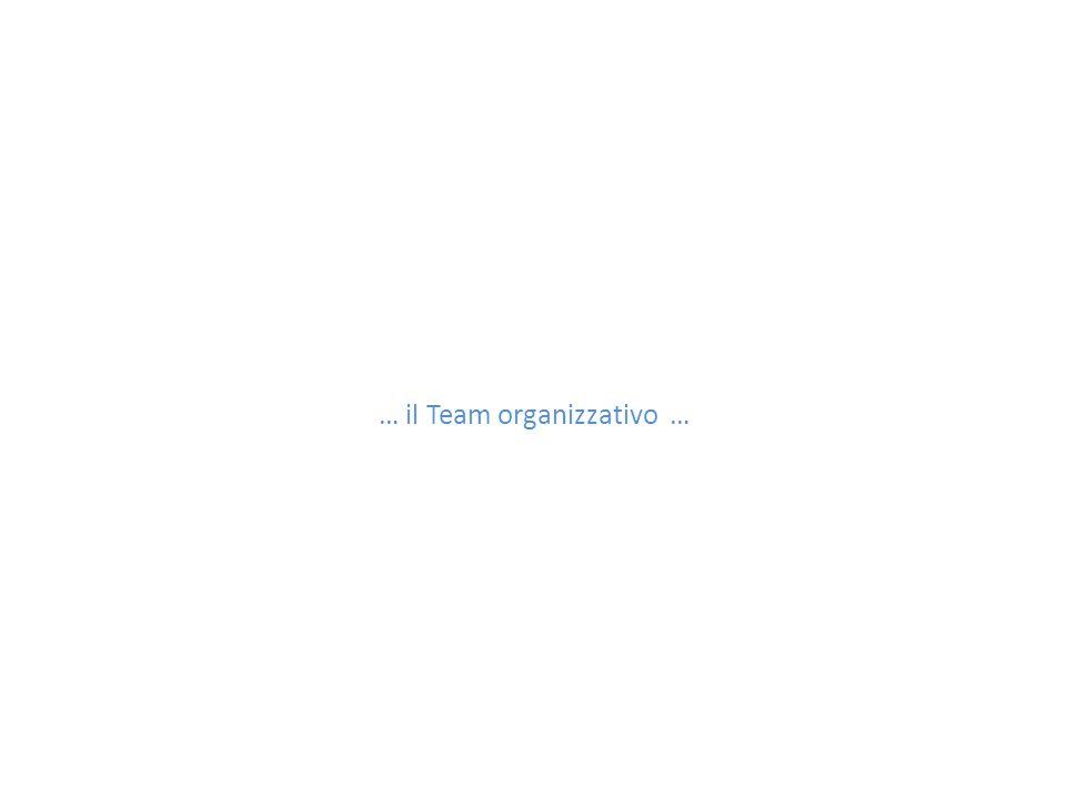 … il Team organizzativo …