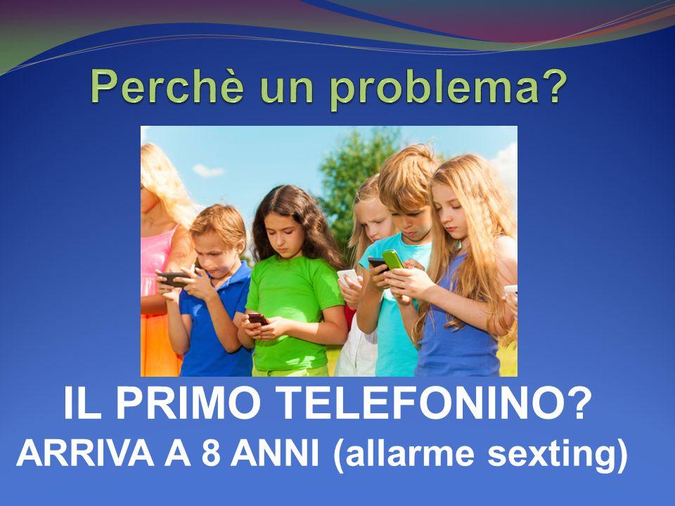 IL PRIMO TELEFONINO ARRIVA A 8 ANNI (allarme sexting)