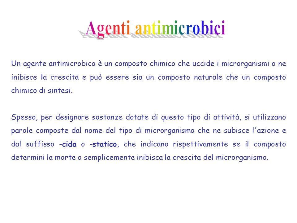 Un agente antimicrobico è un composto chimico che uccide i microrganismi o ne inibisce la crescita e può essere sia un composto naturale che un composto chimico di sintesi.
