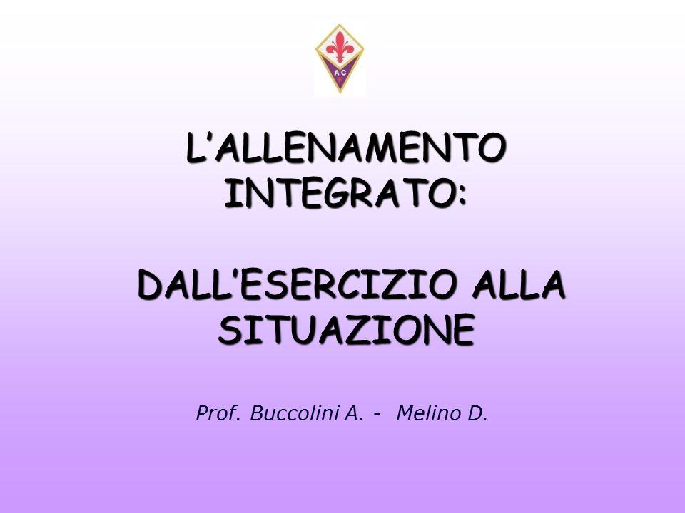 L'ALLENAMENTO INTEGRATO: DALL'ESERCIZIO ALLA SITUAZIONE Prof. Buccolini A. - Melino D.