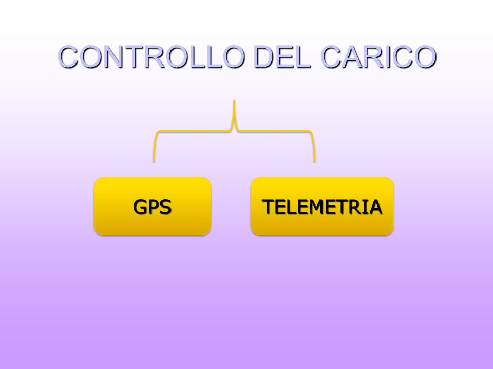 CONTROLLO DEL CARICO GPSGPSTELEMETRIATELEMETRIA
