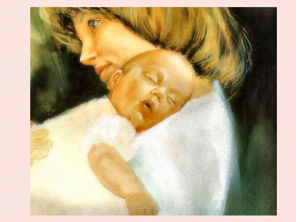 Prime stelle Una mamma è seduta col suo bambino in braccio sul poggiolo infiorato; vedo nella penombra le due manine tese verso un fiore dorato. E spe