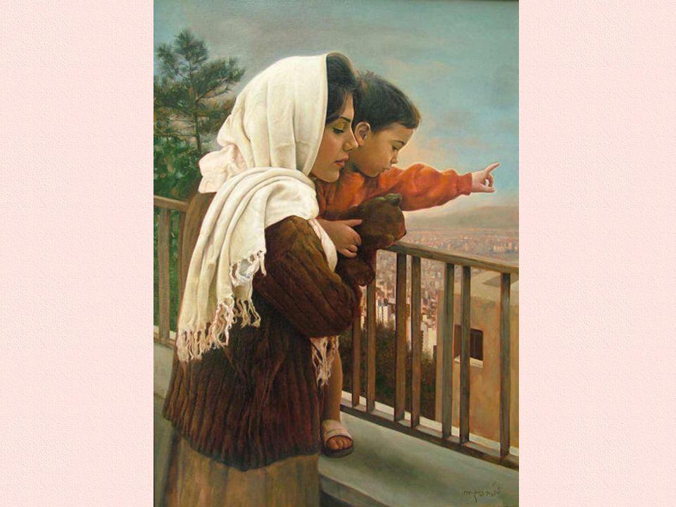 Ti sento, madre, quando, nel sonno, invochi sorte propizia per noi. Ti ammiro, madre, quando, la fronte tempestata di sudore, laboriosa ti affanni. Ti