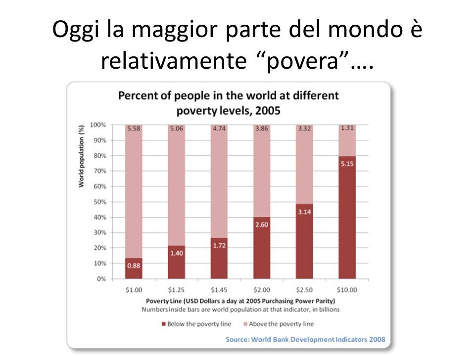 Oggi la maggior parte del mondo è relativamente povera ….