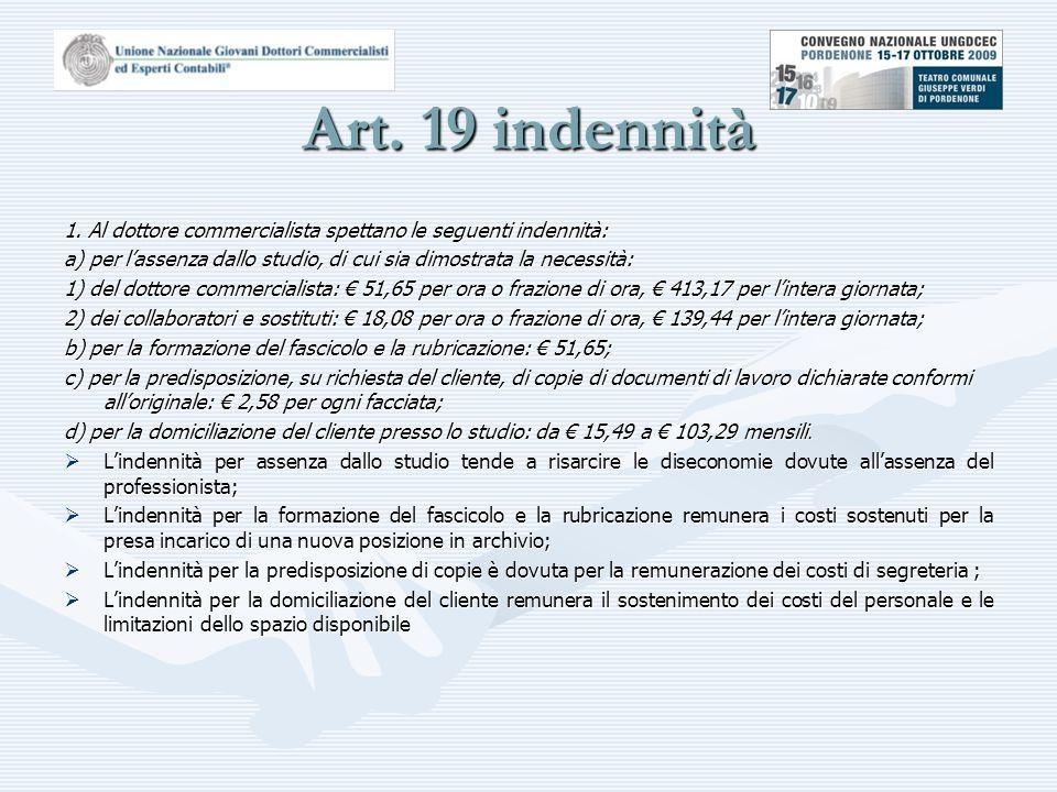 Art.19 indennità 1.
