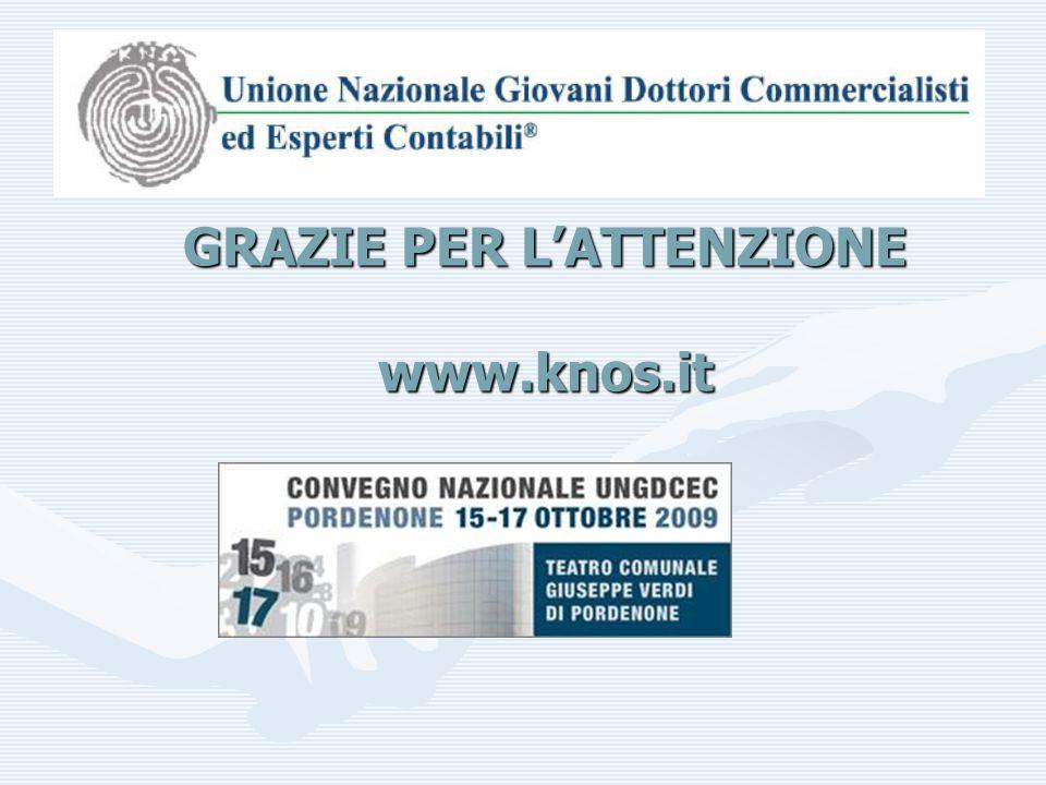 GRAZIE PER L'ATTENZIONE www.knos.it