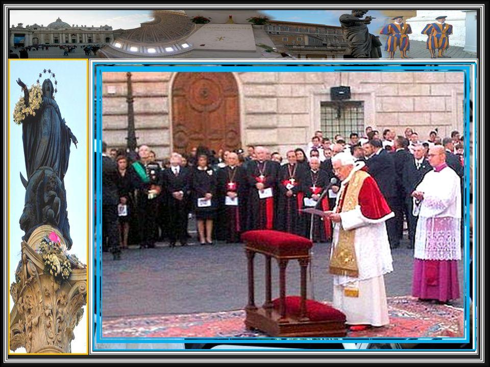 In attesa dell'imminente 8 Dicembre 2012, riviviamo le precedenti visite del Santo Padre all'Immacolata Concezione, in Piazza di Spagna a Roma.