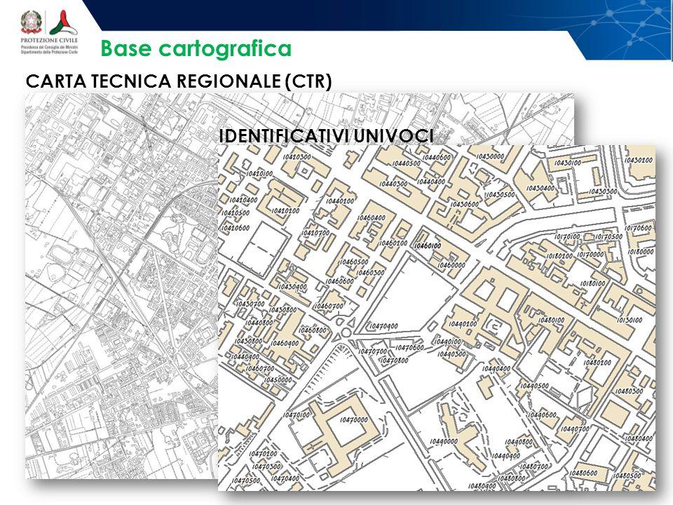 Base cartografica CARTA TECNICA REGIONALE (CTR) IDENTIFICATIVI UNIVOCI
