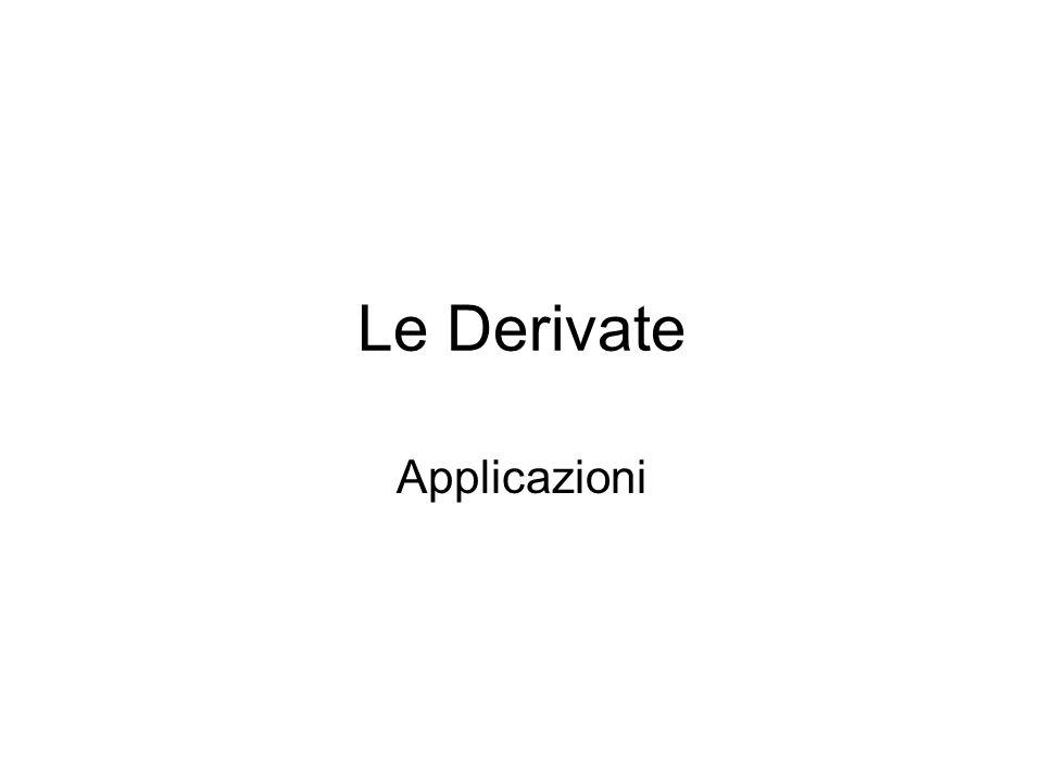 Applicazioni della derivata Definizione 1 sia f:(a,b)  R una funzione numerica.