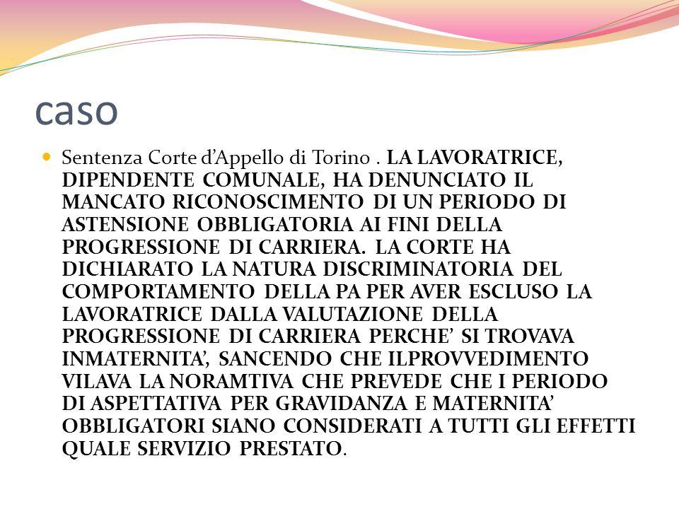 caso Sentenza Corte d'Appello di Torino.