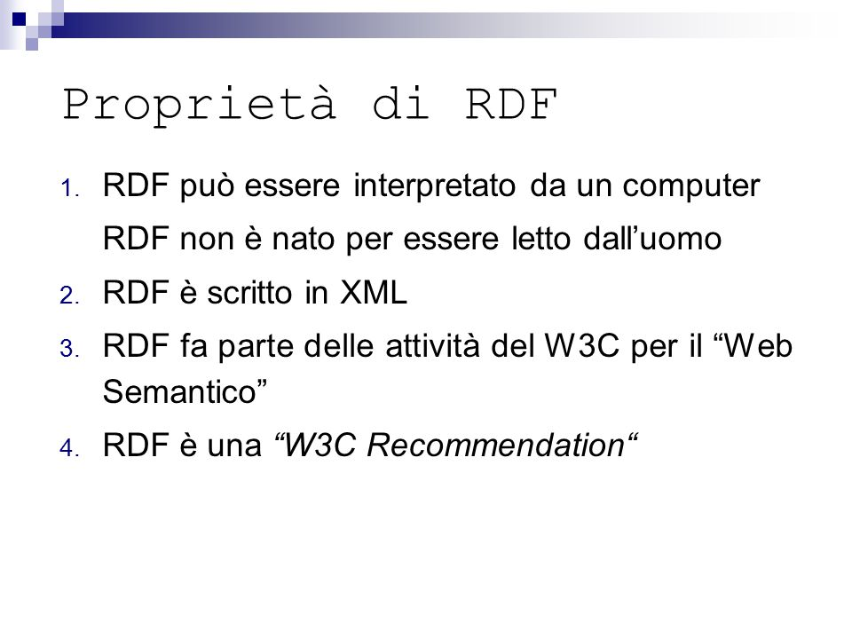 Proprietà di RDF 1.