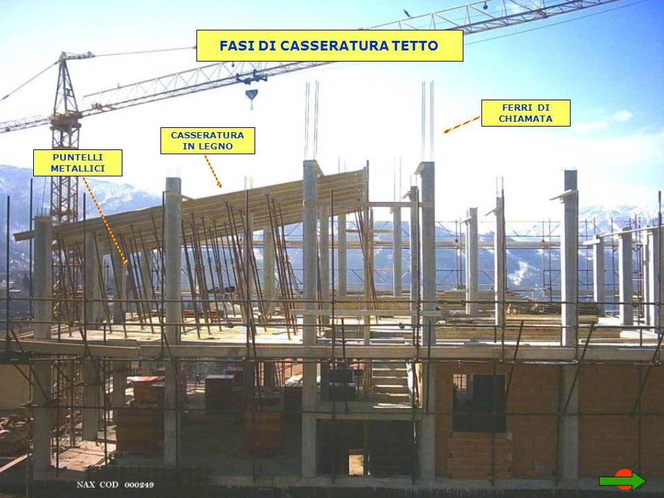 FASI DI CASSERATURA TETTO PUNTELLI METALLICI CASSERATURA IN LEGNO FERRI DI CHIAMATA