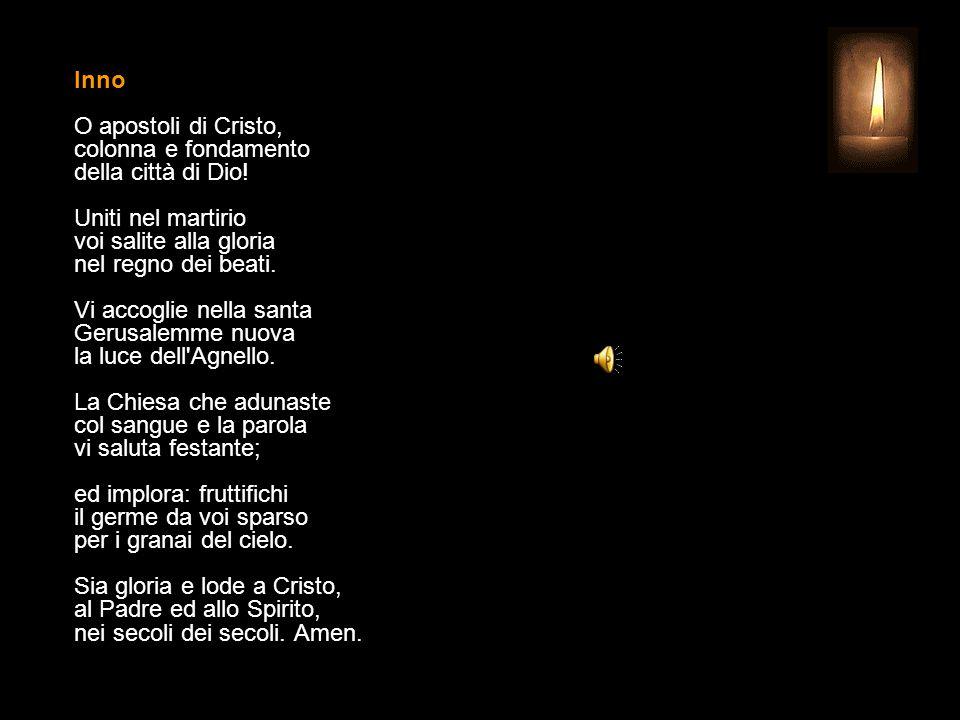 25 LUGLIO 2015 SABATO - SAN GIACOMO Apostolo UFFICIO DELLE LETTURE INVITATORIO V.