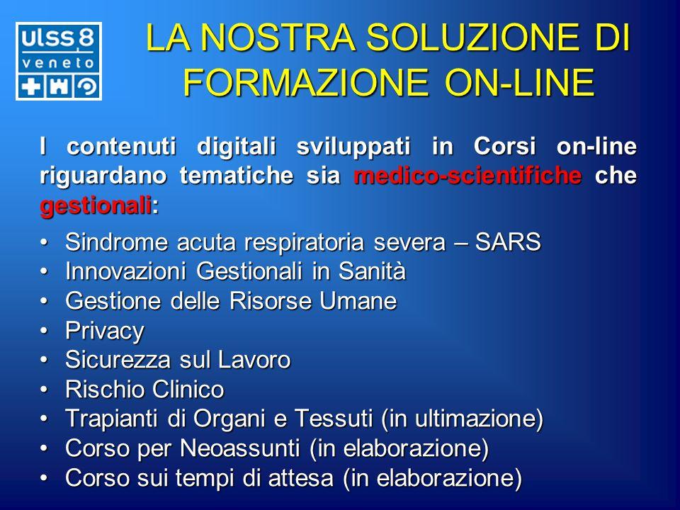 I contenuti digitali sviluppati in Corsi on-line riguardano tematiche sia medico-scientifiche che gestionali: Sindrome acuta respiratoria severa – SAR