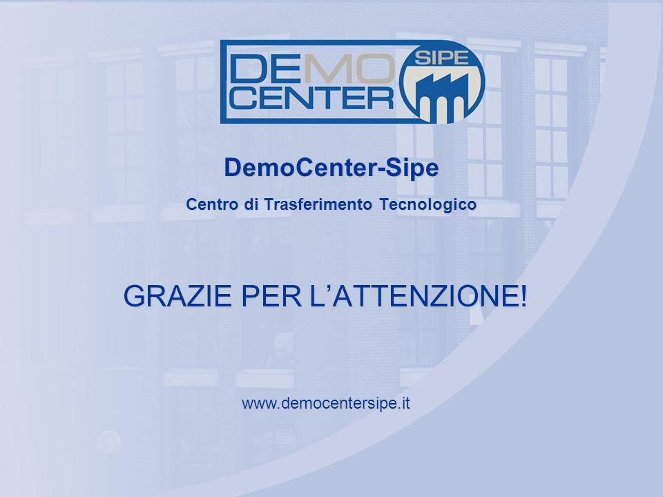 DemoCenter-Sipe Centro di Trasferimento Tecnologico GRAZIE PER L'ATTENZIONE! www.democentersipe.it