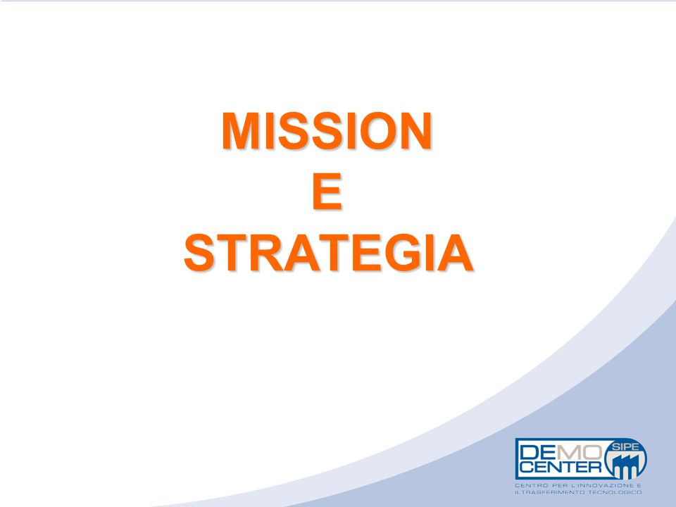 MISSION E STRATEGIA