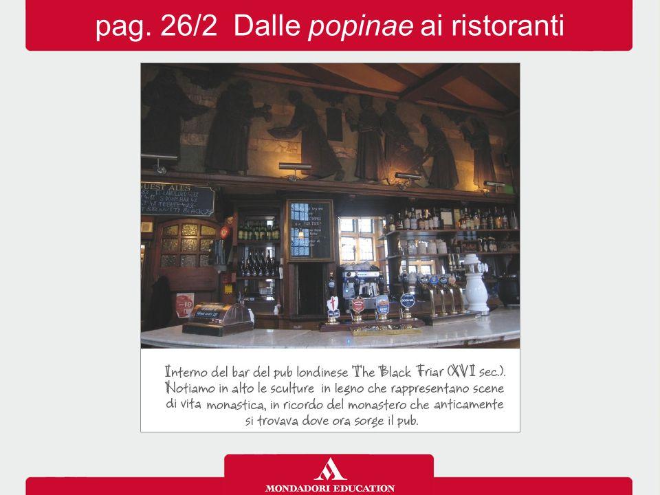 pag. 26/2 Dalle popinae ai ristoranti