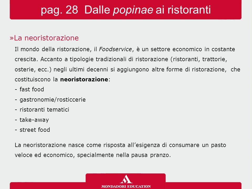 »La neoristorazione Il mondo della ristorazione, il Foodservice, è un settore economico in costante crescita. Accanto a tipologie tradizionali di rist