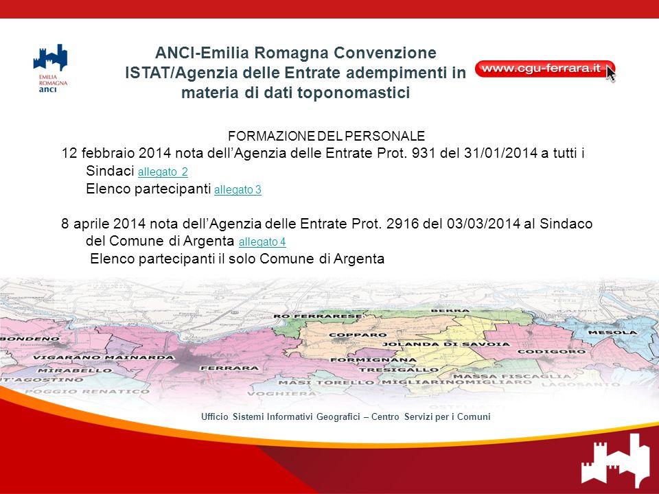 FORMAZIONE DEL PERSONALE 12 febbraio 2014 nota dell'Agenzia delle Entrate Prot.