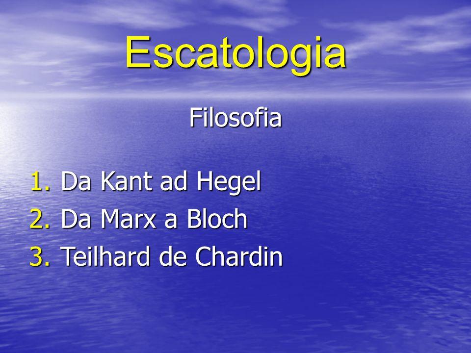 Escatologia Antropologia 1.Da Tillich a Buber 2.Da Blondel a Gehlen 3.Da Heidegger a Rahner