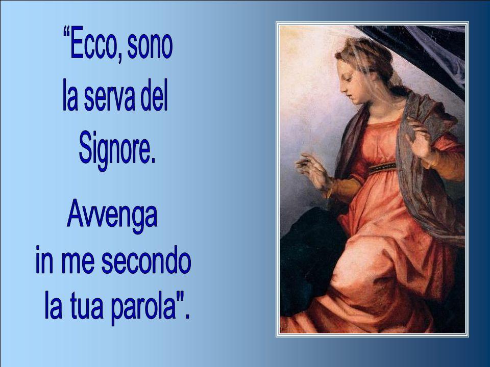 Ave Maria, piena di grazia, il Signore è con Te. Tu sei benedetta fra le donne e benedetto è il frutto del tuo seno, Gesù. Santa Maria, Madre di Dio,