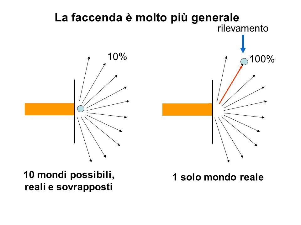 10% 10 mondi possibili, reali e sovrapposti 1 solo mondo reale 100% rilevamento La faccenda è molto più generale