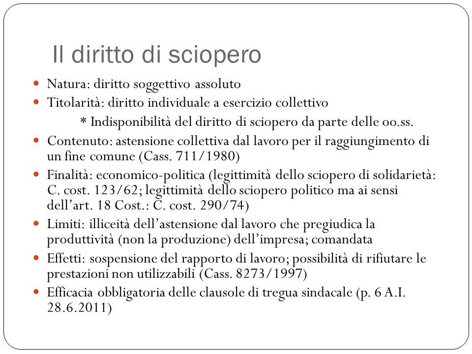 Lo sciopero nei servizi pubblici essenziali (l.146/90) Intervento C.
