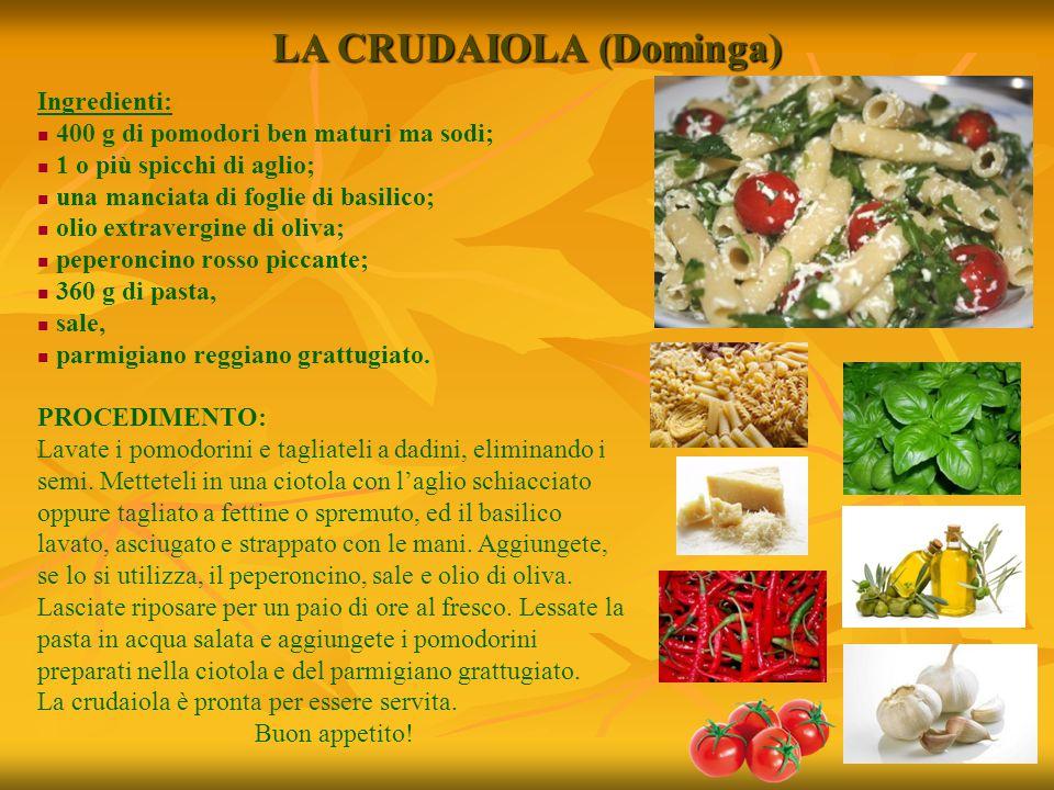 Ingredienti: 400 g di pomodori ben maturi ma sodi; 1 o più spicchi di aglio; una manciata di foglie di basilico; olio extravergine di oliva; peperonci