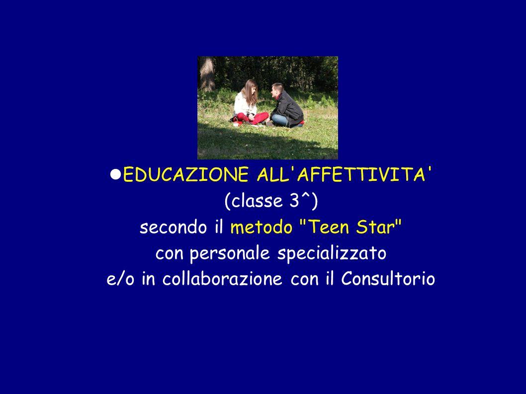 EDUCAZIONE ALL'AFFETTIVITA' (classe 3^) secondo il metodo