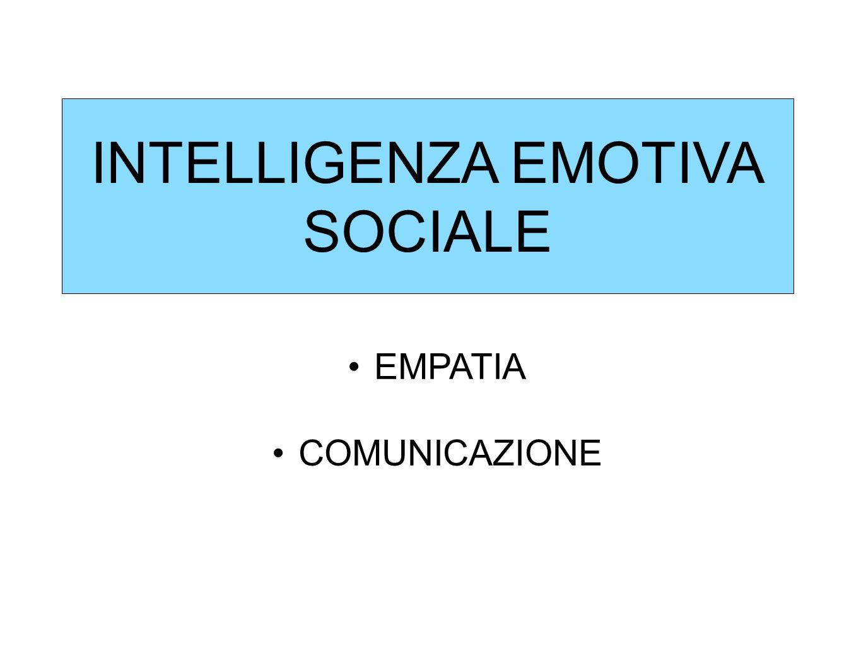 INTELLIGENZA EMOTIVA SOCIALE EMPATIA COMUNICAZIONE