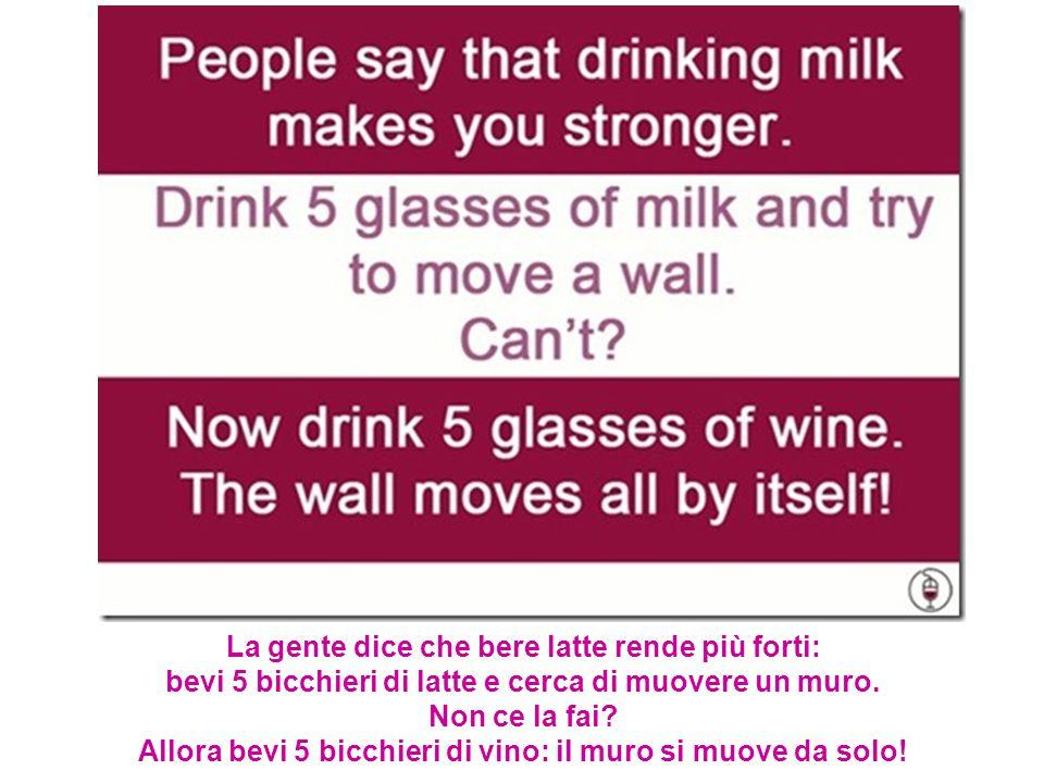 La gente dice che bere latte rende più forti: bevi 5 bicchieri di latte e cerca di muovere un muro.