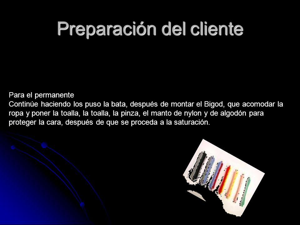 Procedimiento Para el primer color preparará el cliente.