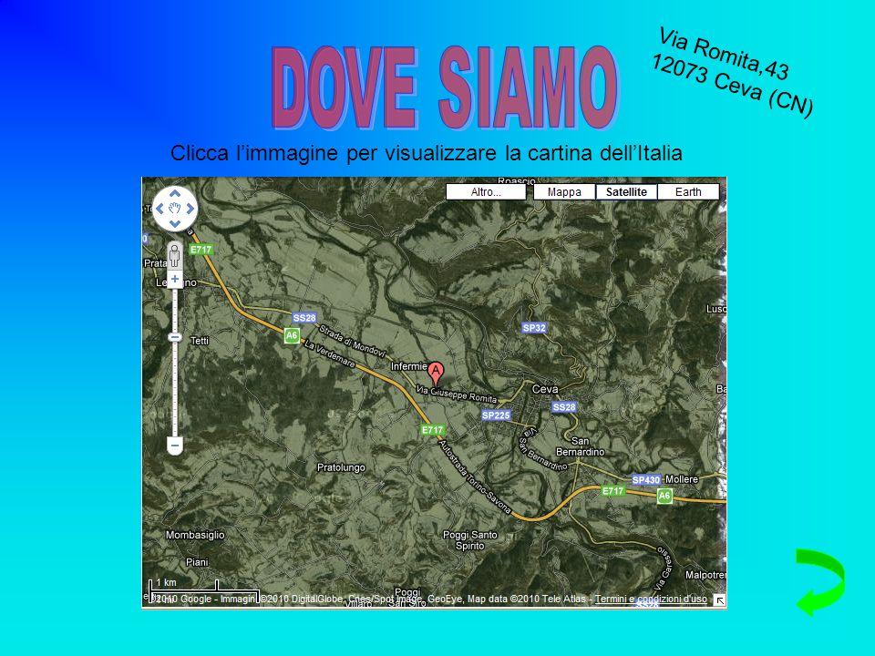 Via Romita,43 12073 Ceva (CN) Pulsar la imagen para ver el mapa de Italia