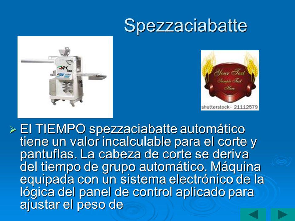 Spezzaciabatte El TIEMPO spezzaciabatte automático tiene un valor incalculable para el corte y pantuflas. La cabeza de corte se deriva del tiempo de g