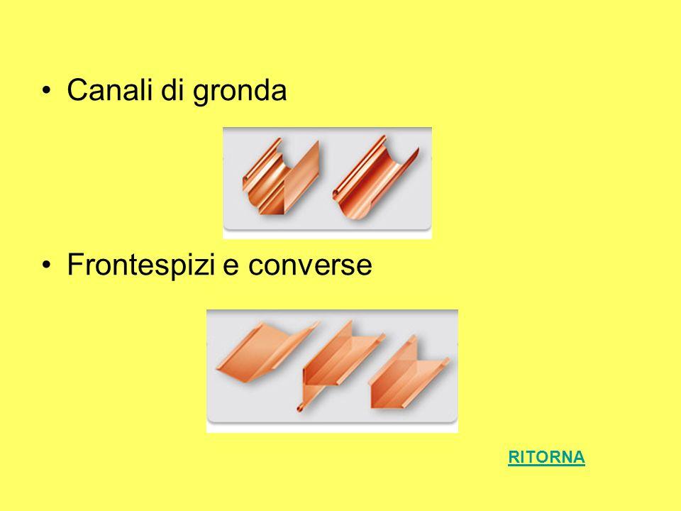 Canali di gronda Frontespizi e converse RITORNA