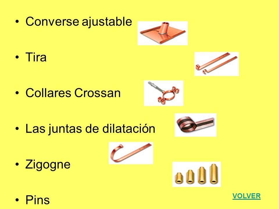 Converse ajustable Tira Collares Crossan Las juntas de dilatación Zigogne Pins VOLVER